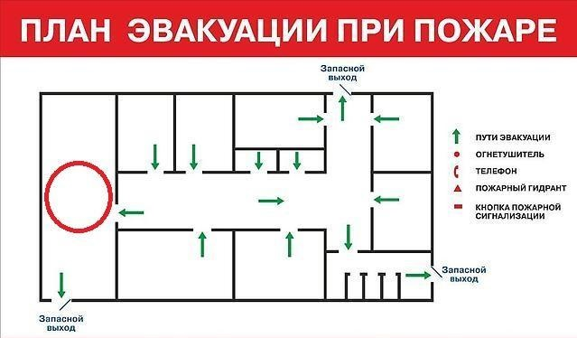 На чем рисовать план эвакуации